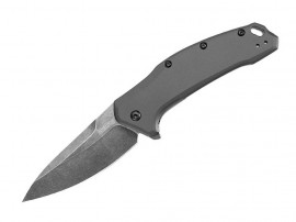 Kershaw Link Gray Aluminum Blackwash