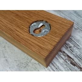 KAI falra szerelhető mágneses késtartó tölgyfa