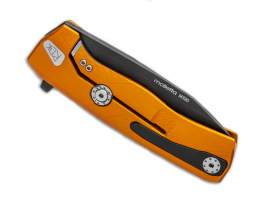 LionSteel ROK Aluminum Orange Black blade