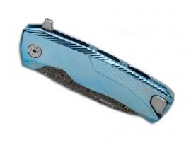 LionSteel ROK Damascus Blue